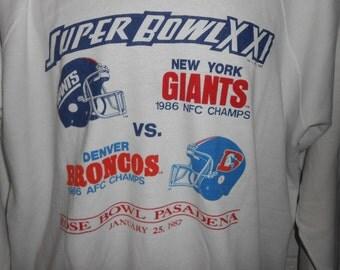 Vintage 80s New York Giants Super Bowl XXI Sweatshirt L/XL