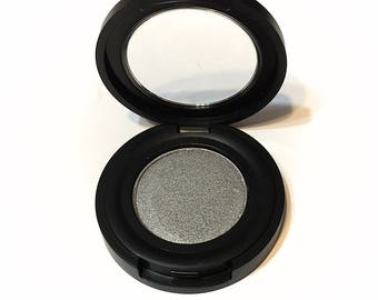 ORGANIC PEWTER Soft Silver Pressed Mineral Eyeshadow - Natural Eye Shadow - Plant Makeup - Organic Gluten Free Vegan Mineral Makeup