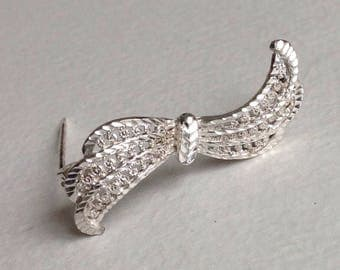 Silver Filigree  Bow Vintage Brooch- Sterling Silver - Gifts for Her - Mothers day
