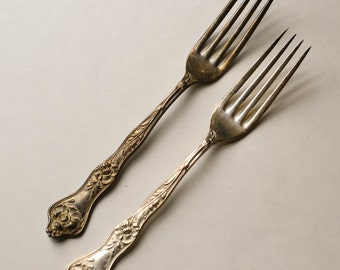 Silver Plate Forks 2 Poppies II R&B Silverplate Forks 1914