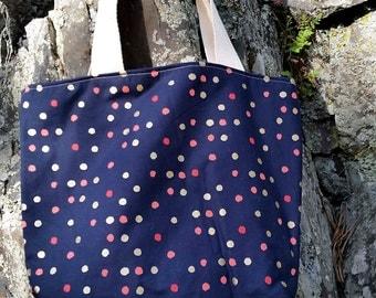 Small/Medium Fabric Tote - Reversible