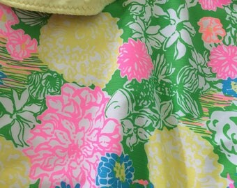 Lilly Pulitzer Blanket ~ Lilly Pulitzer Baby Blanket ~ Lilly Pulitzer Nursery ~ Photo Prop ~ Hibiscus Stroll ~ Green ~ Yellow