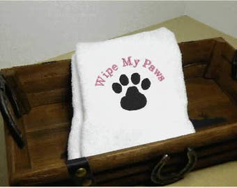 Hand Towel for your pets grooming, pet towel, grooming towel, pet towel gift, embroidered towel, dog towel ,personalized towel, custom towel