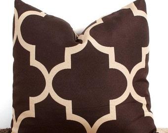 Brown Lumbar Pillow Etsy
