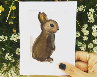 Brown Bunny Card