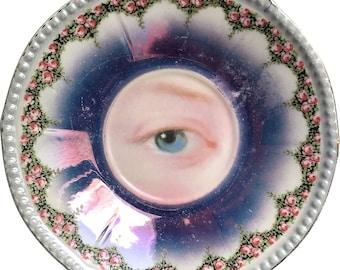 Lover's Eye  - Rococó - Vintage Porcelain plate - #0486