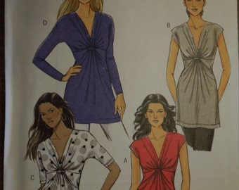 Butterick B5495, sizes 18-22, UNCUT sewing pattern, craft supplies, womens, tops, shirts