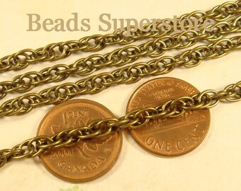 SALE 4 mm Antique Bronze Pretzel Chain - Nickel Free and Lead Free - 3 meters (about 10 feet)