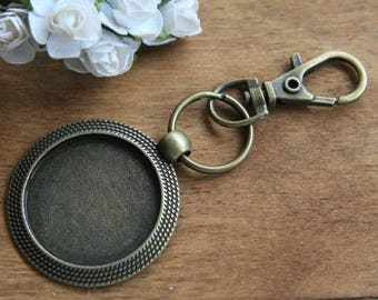 Blank key rings 25mm base key rings kits key rings settings Supplies antique bronze vintage silver jewelry craft findings No.A4066