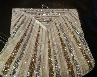 Vintage Great Gatsby Purse / Art Deco Purse/ Sequin and beaded purse