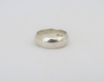Vintage Sterling Silver Wedding Band Ring Size 6.75