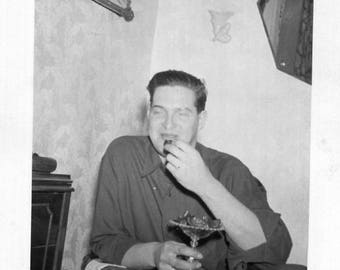 Vintage Photo..Pass The Fudge, 1950's Original Found Photo, Vernacular Photography