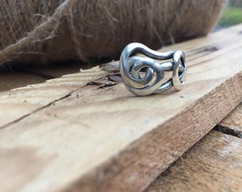 Handmade 925 Sterling Silver Wire Twist Ring