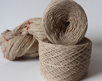 100% Hemp Yarn - Natural Dye - Col: 006 Laurel - Milk Tea