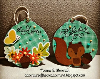 Nuts About You & Thank You...  Tags... Bundle Of 2...