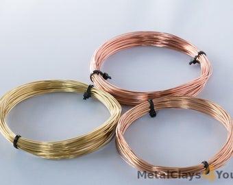 Unplated wires Bundle ( Bronze, Copper and Brass )