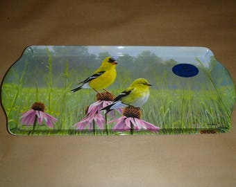 Serving Tray for Scandinavian Swedish Almond Cake - Cardinal or Goldfinch