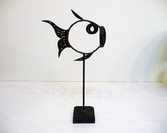 Mid Century Modern Fish Sculpture
