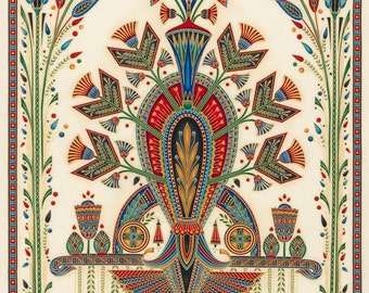 Egyptian Fabric, Valley of the Kings Fabric - Geometric Panel by Robert Kaufman - SRKM 16282 163 Spice - Panel 24x44