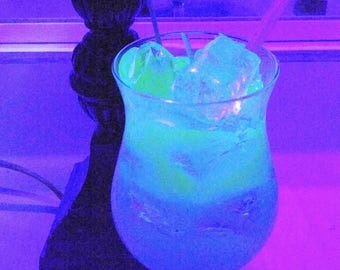 Glow In The Dark Fluorescent Gel Wax Candle! Very Unique!!