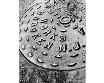 Old Grid, Hoboken Iron Works, Original Photograph 8x10