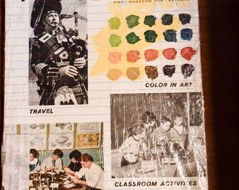 Vintage, sealed Grade Teacher Magazine April 1967