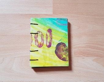 Stamped visual art journal