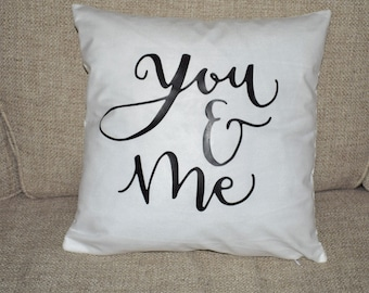 You and Me pillow cover, 16x16 pillow cover