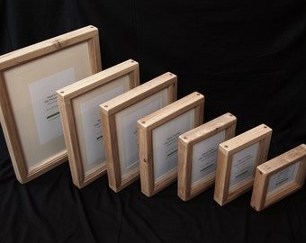 """12"""" x 10"""" Chunky Oak Picture Frame - Hand Crafted by 'Chunky Oak Designs'"""
