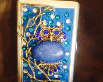 Owl Cigarette Case  ,Business card Holder 100 or king