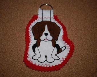 Beagle Keyring, Beagle Gift, Beagle, Beagle Dog, Keyring, Dog Keyring, Beagle Dog Keyring, Handmade Keyring, Fabric Keyring, Dog Gift