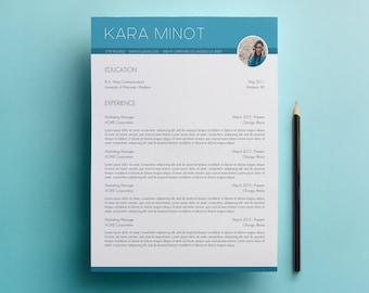 Resume Template & Cover Letter Template with Photo and No Photo Designs - Microsoft Word Doc - Modern, Creative CV Template A4 and US Letter