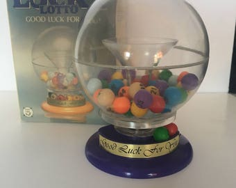 Vintage Lucky lotto lottery bingo balls machine Everlast with original box