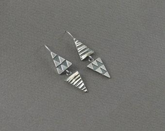 Double Triangle Hook Earrings