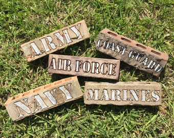 Army Airforce Navy Marines Coast Guard Engraved Brick