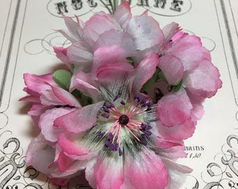 Lovely pink vintage millinery flower bunch