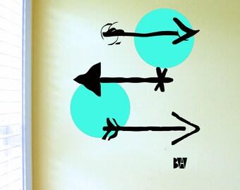Arrow Wall Decals. Geometric Wall Decor. Vinyl Decals. Wall Decal. Arrows Decals. Wall sticker. Home decor decals.