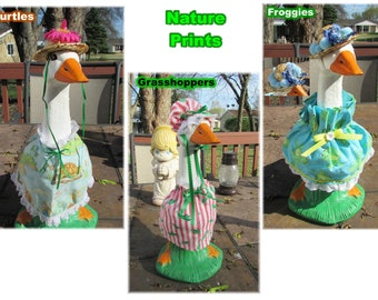 """Small Lawn Goose (13"""" - 15"""") Outfits"""