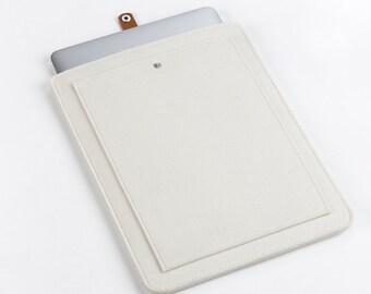 New MacBook Pro 15 Sleeve – MacBook Case – New MacBook Pro 15 Cover - MacBook Leather  - Macbook Sleeve - Front Pocket