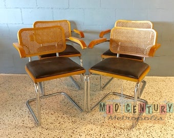 Vintage Modern Cesca / Bruer Style Chrome Cantilever Chairs from Italy. Priced individually