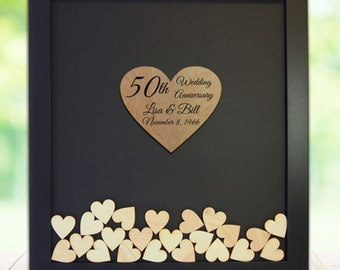 Anniversary Gift For Parents 50th 25th Framed Personalized