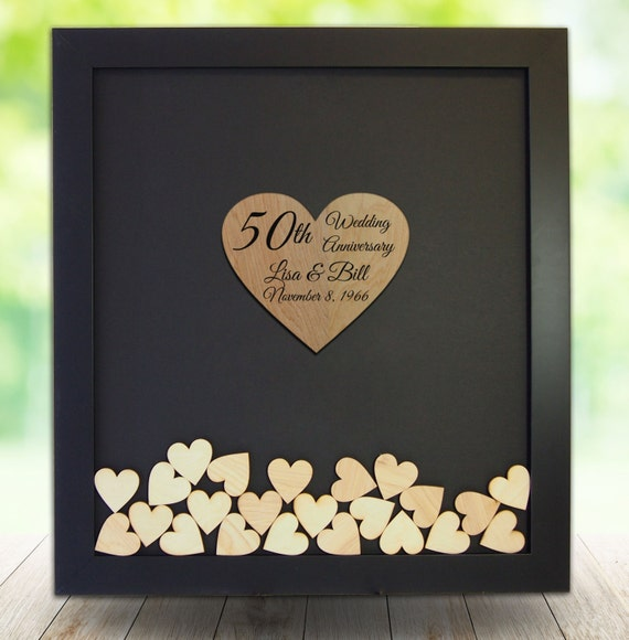 50th Wedding Anniversary Gift Ideas For Guests : FRAMED 50th Wedding Anniversary/50th Anniversary Gifts/50th Wedding ...