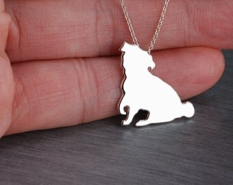Pug handcrafted sterling silver necklace girl,woman jewellery