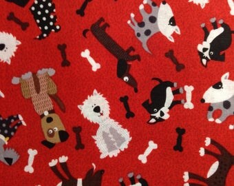 One Half Yard of Fabric - Dogs and Bones