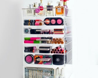 Bling Handle Makeup Organizer, Makeup Storage, Make up Organizer, Beauty Organizer, Makeup Case