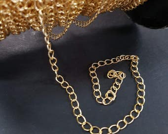 3.5mm Gold Large Link Chain 160SB