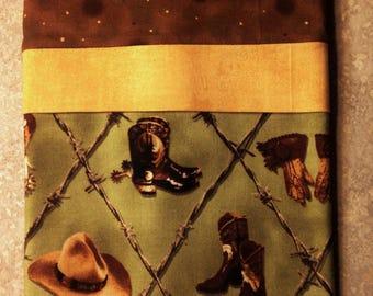 """Travel/Toddler Pillowcase -  """"Cowboy Clothes"""""""