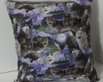 WOLVES and EAGLES PILLOW! ~ Large ~ 19.99