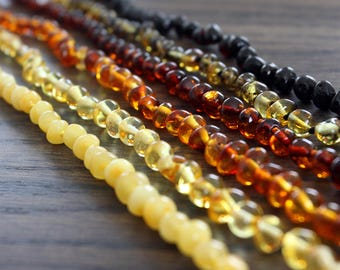 Authentic baltic amber baby teething necklace. 31-33 cm/12.2-13 in Amber Teething Necklace; Baby amber necklace; Baby Shower gift