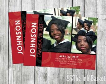College Grad - Collage Picture Graduation Invitation Announcement
